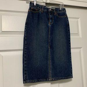 *GAP* Blue Jean Skirt